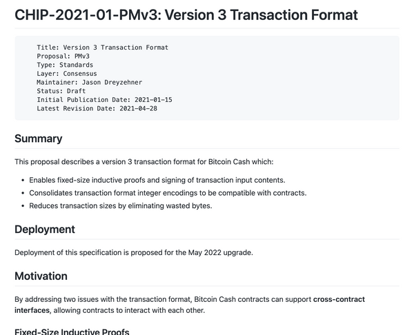 PMv3 CHIP Revised: Version 3 Transactions